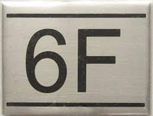 APARTMENT Number Sign  -6F