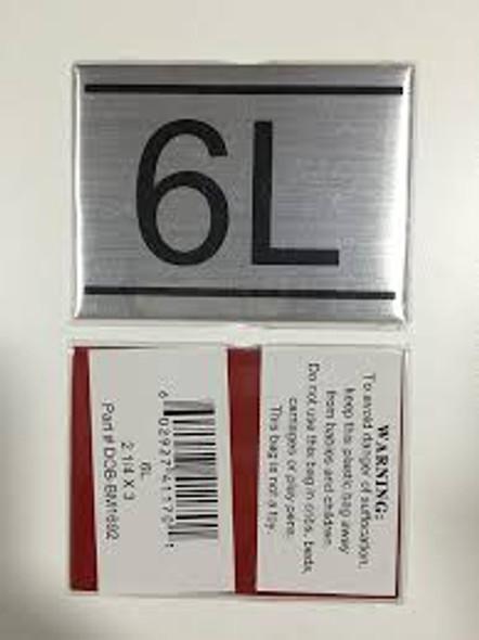 APARTMENT NUMBER  -6L