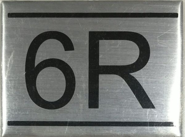 APARTMENT Number Sign  -6R