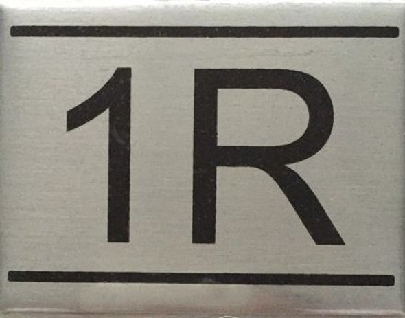 APARTMENT Number Sign  -1R