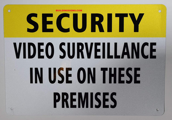 Security Video Surveillance in USE ON These Premises Signage