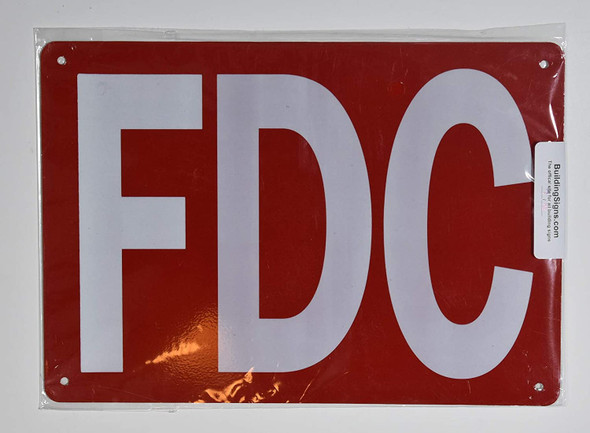 FDC SIGN RED