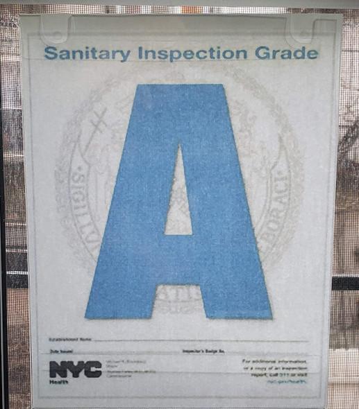 NYC Restaurant Letter Grade Frame