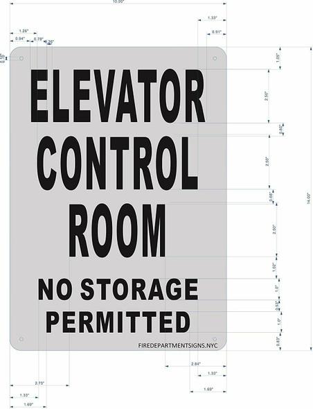ELEVATOR CONTROL ROOM SIGNAGE (Brush AluminiumRust FreeALUMINIUM)