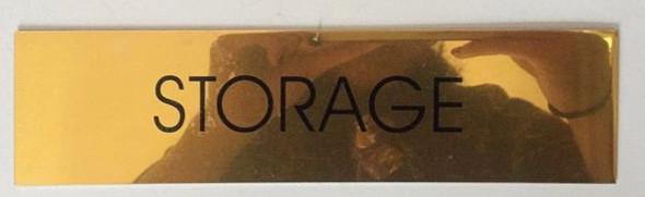 STORAGE SIGNAGE - GOLD ALUMINUM