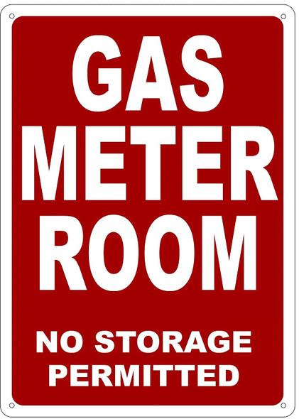 GAS METER ROOM SIGN
