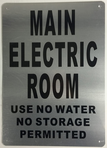 Main Electric Room Sign ( Rust FreeAluminium)