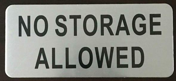 no storage sign