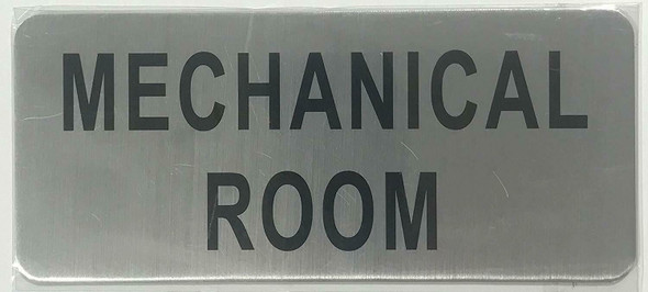 MECHANICAL ROOM SIGN (BRUSHED ALUMINUM)