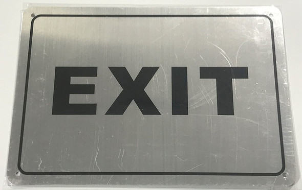EXIT Sign silver