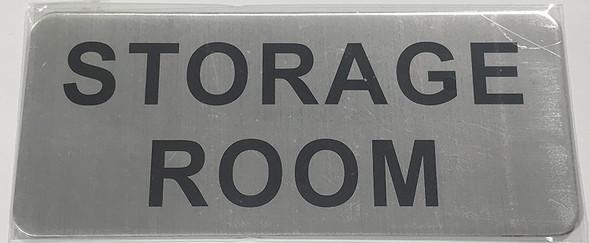 STORAGE ROOM SIGN- BRUSHED ALUMINUM