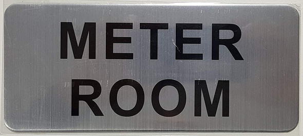 METER ROOM SIGN (BRUSH ALUMINIUM)-The Mont argent line