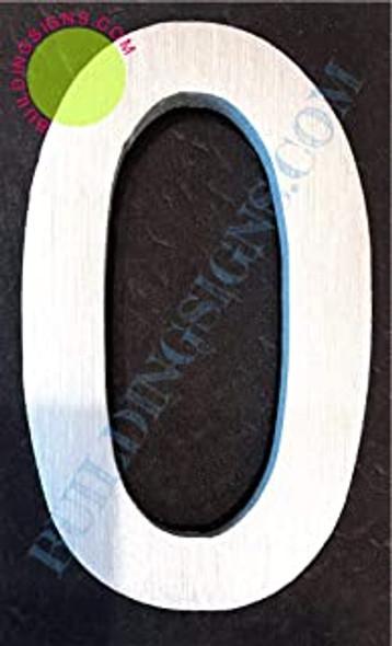 Aluminum Letter O Sign (Brush Silver,Double Sided Tape, Rust Free, 2.75 inch)-ÉLÉGANTE NUMÉRO DE Porte BROSSE Artiste