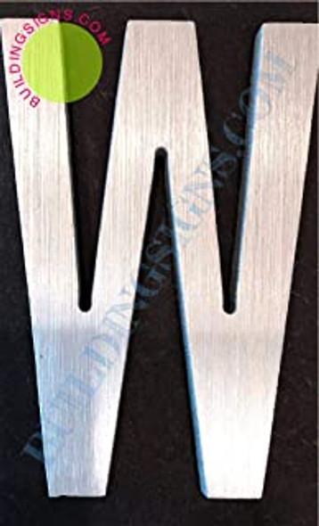 Aluminum Letter W