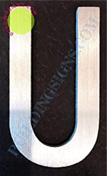 Aluminum Letter U Sign