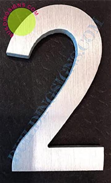 Aluminum Number 2 Sign
