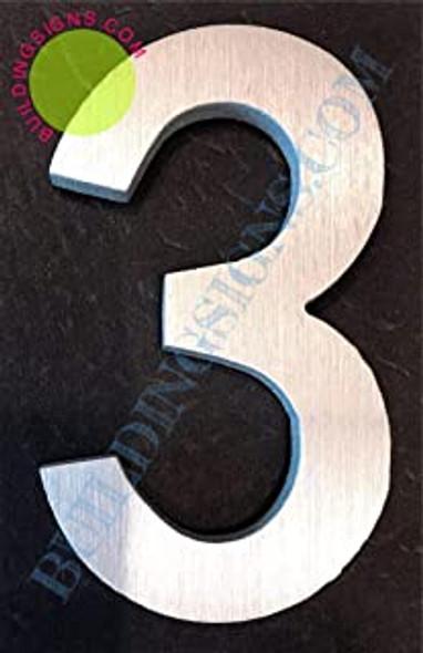 Aluminum Number 3 Sign