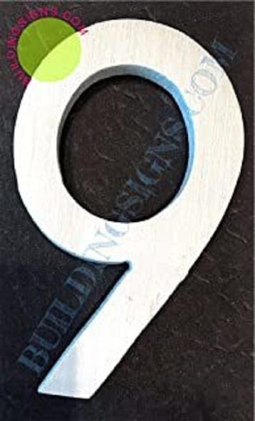 Aluminum Number 9 Sign