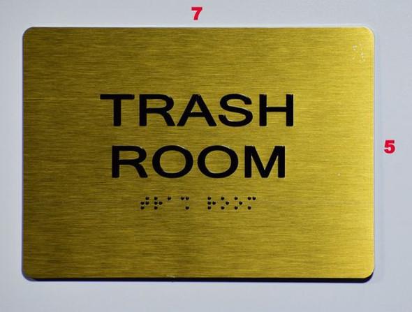 TRASH ROOM for Buildings Sign