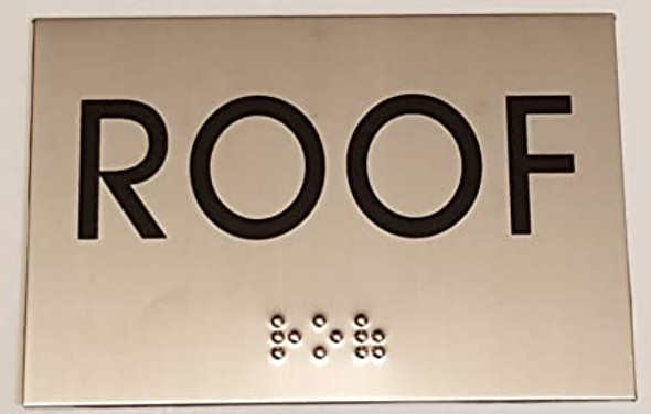 ROOF Sign -Tactile Signs  BRAILLE-( Heavy Duty-Commercial Use ) Ada sign