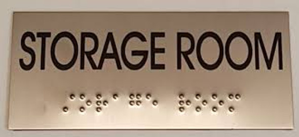 STORAGE ROOM Sign -Tactile Signs  BRAILLE-( Heavy Duty-Commercial Use ) Ada sign