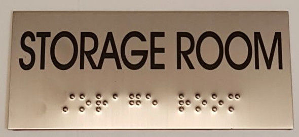 STORAGE ROOM SIGN - BRAILLE-STAINLESS STEEL