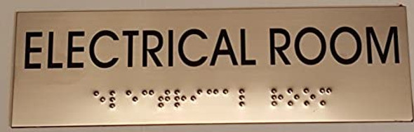 ELECTRICAL ROOM Sign -Tactile Signs Tactile Signs  BRAILLE-(Heavy Duty-Commercial Use )  Braille sign