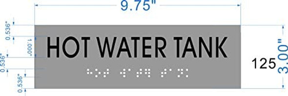 HOT WATER TANK- BRAILLE-STAINLESS STEEL