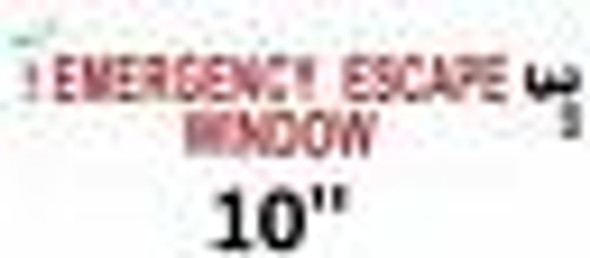 EMERGENCY ESCAPE WINDOW Signage