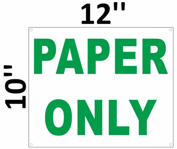 PAPER ONLY SIGN White