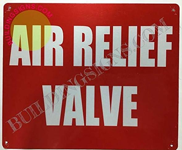 AIR Relief Valve Signage