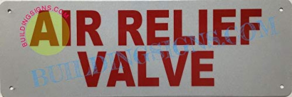 AIR Relief Valve Sign