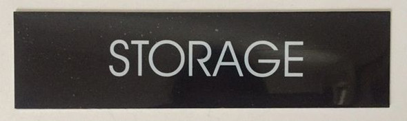STORAGE SIGN - BLACK