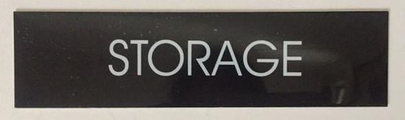 STORAGE SIGNAGE - BLACK