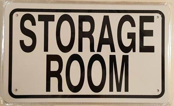 STORAGE ROOM SIGNAGE- WHITE ALUMINUM