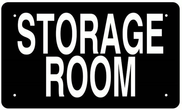 STORAGE ROOM SIGN BLACK