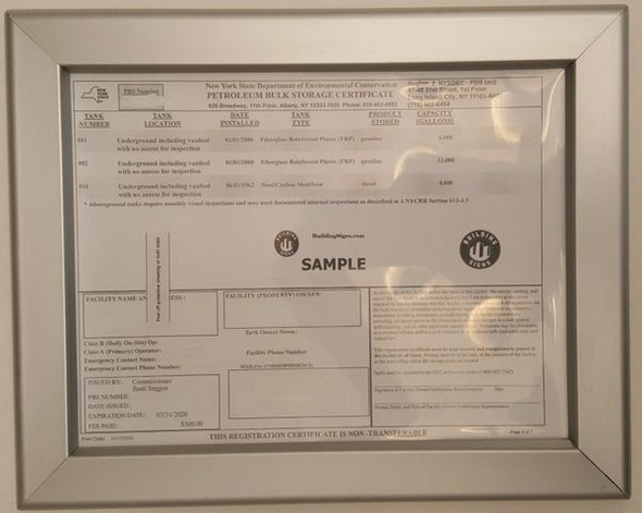 Storage Certificate Frame for Building