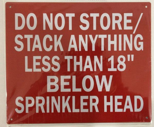 DO NOT STORE/ STACK Sign Red