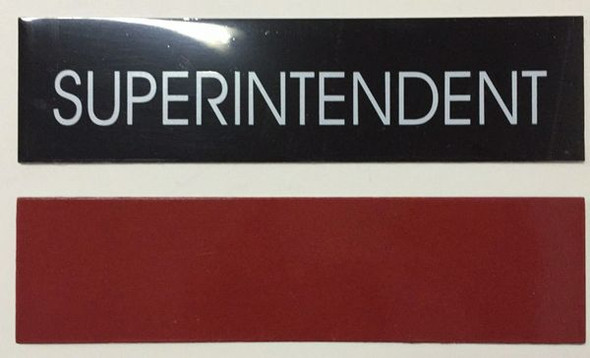 SUPERINTENDENT SIGNAGE - BLACK