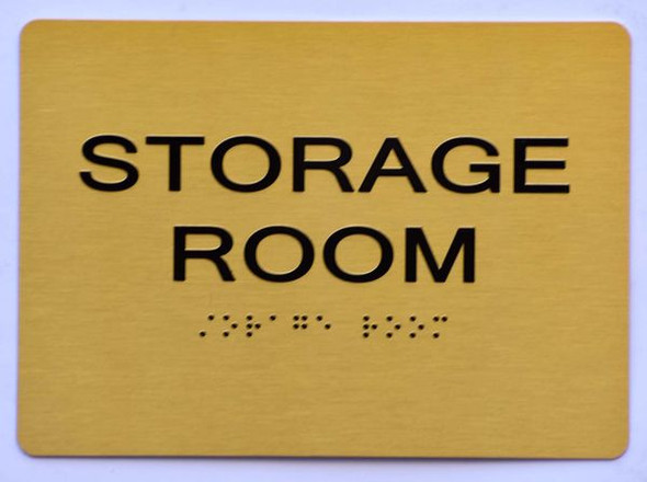 STORAGE ROOM SIGN Tactile Signs  Ada sign