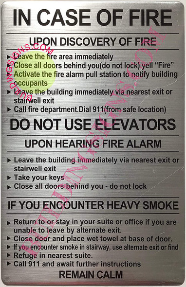 Door fire Notice Signage/Hotel fire Door SignageSchool fire Door Signage