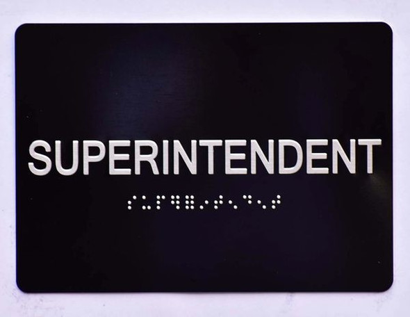 SUPERINTENDENT HPD SIGN