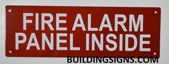 FIRE Alarm Panel Inside Signage (, Aluminum, )