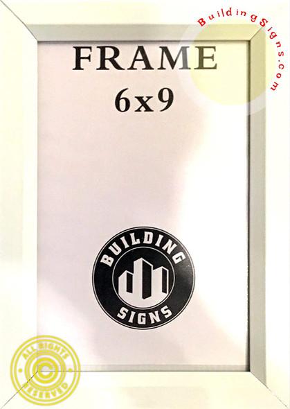 White Elevator Inspection Certificate Frame (Heavy Duty - Aluminum)