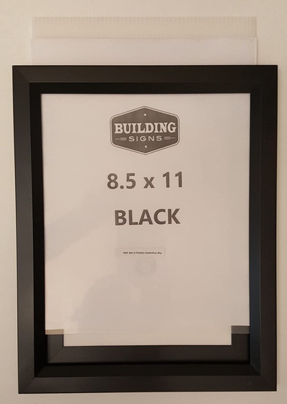 Black Elevator Inspection Certificate Frame