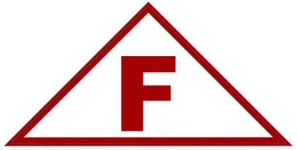 State Truss Construction Sign-F Triangular ( Sticker)