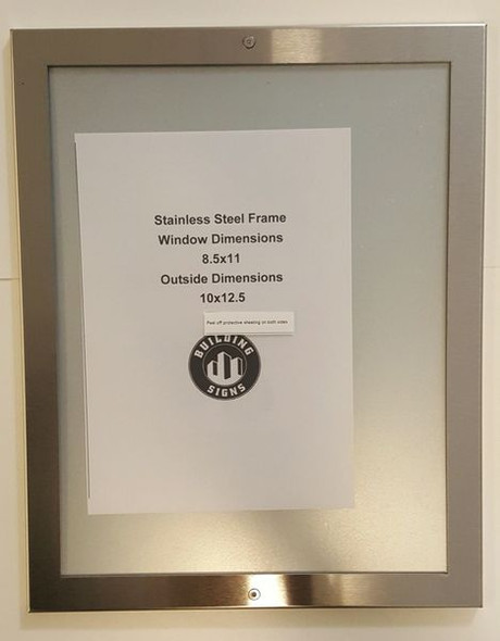 Elevator Notice FRAME (Lockable !!!, Silver, Heavy Duty, Aluminum)