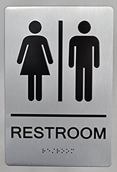 Restroom Sign  Braille sign -Tactile Signs  The sensation line   Braille sign