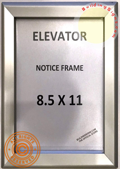 Elevator Notice FRAME (Silver, Heavy Duty - Aluminum)