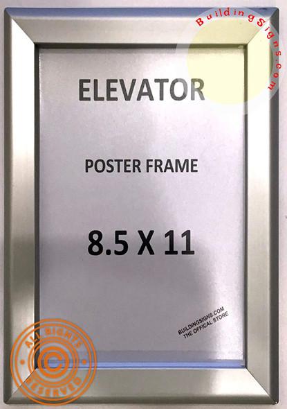 Elevator Poster FRAME (Silver, Heavy Duty - Aluminum)